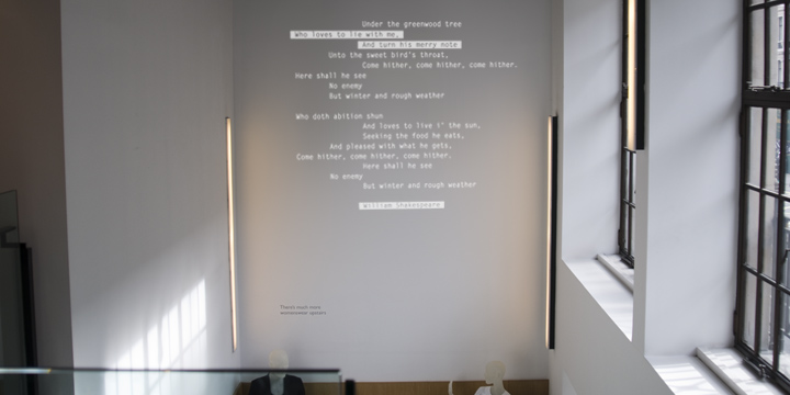 COS - In-store projection everyday poetry