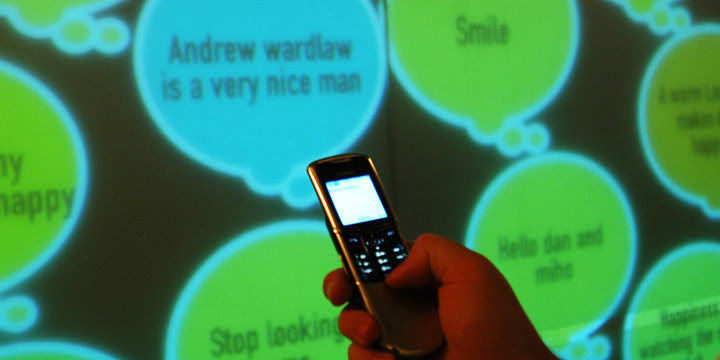 IDEO - SMS wall projection